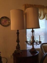 Antique Beautiful Pair of Antique Lamps $495.00