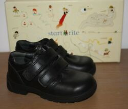 Start-rite Boys Rotate Black Leather School Shoes Various Sizes BNIB