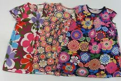 Hanna Andersson Girls Short Sleeve Floral Play Dresses  Sz 110 (5-6) Lot of 3