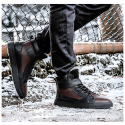 Men Winter High Top Sneakers Running Trainers Snow Shoes Big Size Fashion $76.13