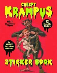 Creepy Krampus Sticker Book No.1: 72 Reusable Stickers for Naughty Girls