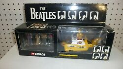 Vintage BEATLES YELLOW SUBMARINE 2000 LTD. Corgi Die Cast With Beatles Figures