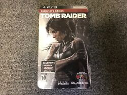Tomb Raider Collector's Edition Sony PlayStation 3 PS3 New 2013 SEALED w figure