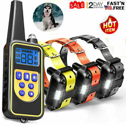 123 Dog Shock Training Rechargeable Collar With Remote IP67 For Large 880 Yard