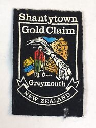 Greymouth Shantytown Gold Claim Vintage Patch New Zealand Sew On NZ 2.75quot; Tall $9.99
