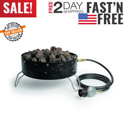 Round Propane Fire Pit Portable Deck Patio Backyard Camping Gas Heater Small