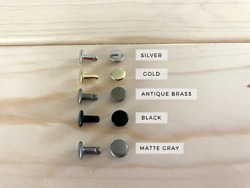 Double Cap Rivets in: Silver Gold Black Antique Brass and Matte Gray $47.99