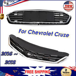 Front Bumper Upper Grille + Middle Lower ABS Grille For Chevrolet Cruze HOT SALE