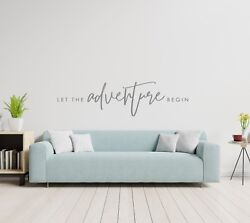LET THE ADVENTURE BEGIN Vinyl Wall Decal Decor Words Decor Home Quote Lettering $9.95