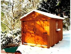 She Shed Woman Cave 8 x 12 ft Red Cedar Panelized Kit Pre-Cut and Ready to Build
