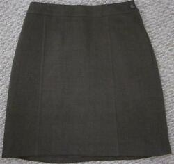 CHANEL BROWN 100% WOOL SKIRT Sz 42Sz 10 28