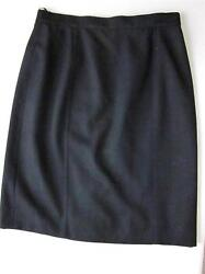 CHANEL BLACK 100% LIGHT WOOL SKIRT Sz 42Sz 10 28