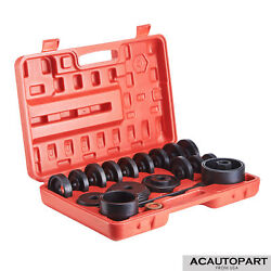 23pcs Front Wheel Bearing Press Kit Removal Adapter Puller Pulley Tool Case $55.19