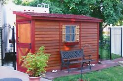 She Shed 8 x 4 ft Red Cedar Woman Cave Includes Window + Door + Pre-Built Panels