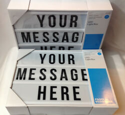 Lot of 2 Message Board LED Light Box with 105 Letters Numbers Emojis - NEW $19.75