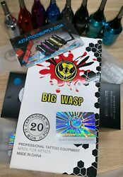 BIG WASP tattoo Needle Cartridges LINERS SHADERS OR CURVED MAG FAST FROM ARIZ. $15.30