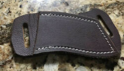 C D Buffalo leather knife sheath Dark oil rustic for Trapper etc.*NO KNIFE* $21.95