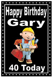 BUILDER FUN PERSONALISED NOVELTY BIRTHDAY CARD ANY NAME AGE NEW GIFTS $7.01