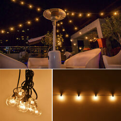 G40 Clear Outdoor Patio Globe String Lights (100' 50' and 25' Lengths) lot