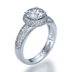 2 34 Carat G SI1 DIAMOND ENGAGEMENT RING ROUND CUT 14K WHITE GOLD JEWELRY 9038