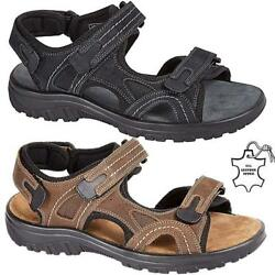 New Mens Leather Summer Sandals Walking Hiking Trekking Trail Sandals Shoes Size GBP 18.95