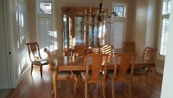 Bernhardt Dining Room Set Odeon Collection Table Chairs China Hutch