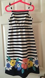 New Gymboree Girl Gym Navy Floral Midi Dress Tropical Breeze Size 6 8