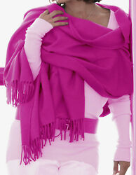 Luxe Oh` Dor 100% Cashmere Stole Scarf 4 Threads Fuchsia Pink 78 1116x35 38in