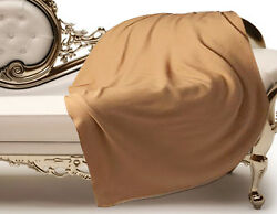 Luxe Oh` Dor 100% Cashmere Cover Plaid 6 Thread Camel Brown 86 58x86 58in