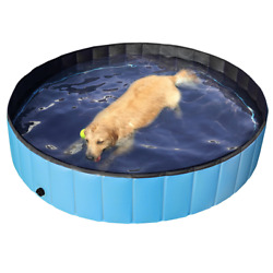 Blue Foldable Pet PoolSuitable for DogsCats or Other Pets to Swim and Bath $44.99