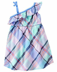 NWT Gymboree Tropical Breeze Plaid Dress 18 24M 2T 3T toddler girls