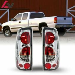 For Silverado Sierra 99-03 Chrome Clear Altezza Tail Lights Lamp Set Replacement $49.55