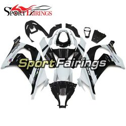 White Black Full Fairings For Kawasaki ZX10R Year 2011 - 2015 Injection ABS  $352.07