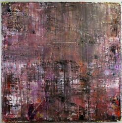 Abstract oil painting in purple Large 48x48 OOAK Brian Stirling  titled Corcra
