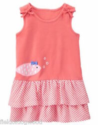 NWT Gymboree Tropical Breeze Fish Dress 12 18mo 2T 3T toddler girls