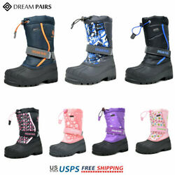 DREAM PAIRS Kids Girls Boys Winter Snow Boots Warm Waterproof Anti Slip Ski Boot $25.19