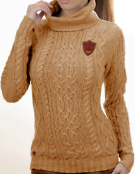 Luxe Oh` Dor 100% Cashmere Sweater Braid Pattern 10 Thread Camel Brown 32-52 Xxs
