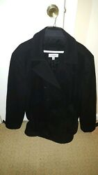 Calvin Klein Mens Peacoat Winter Coat Jacket Black In Color XL