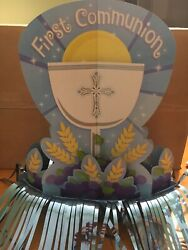 First Communion Blue Boy Party Decorations And New Cupcake Decor $5.50