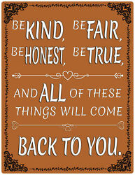 Inspirational Aluminum Sign Will Come Back To You Hanging Wall Plaque