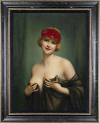 Old Master Art Antique Oil Painting Noblewoman nude girl on canvas 24quot;x36quot; $498.00