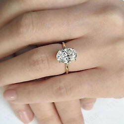 4.00 Ct Oval Cut Diamond Solid 10K Yellow Gold Women's Solitaire Engagement Ring