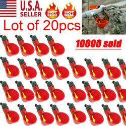 20Pack Poultry Water Drinking Cups Chicken Hen Plastic Automatic Drinker Quail $14.99