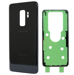 Replacement Glass Back Cover w Adhesive for Samsung Galaxy S9 Plus G965 Black $7.49