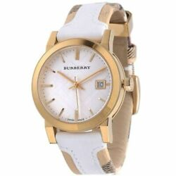 b5a9c905c476 Burberry BU9110 Haymarket Large Check Leather Women s Watch