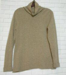 Nordstrom  Cashmere Beige Womens Small Cowl Neck Long Sleeve Pullover Sweater