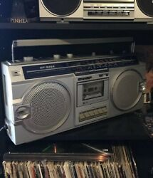 Vintage Sharp GF-5454 80's Boombox Ghetto Blaster AMFM Radio Cassette Player