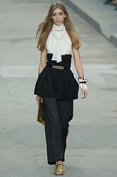 Chanel Runway Spring 2015 Halter and Wrist Cuffs Glove - Sexy Mini Dress Halter