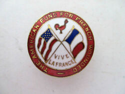 Antique WWI Pin The American Fund for French Wounded
