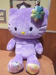 Build A Bear Limited Edition Purple Love Hello Kitty Tie Dye SHE PURRS ALSO 19